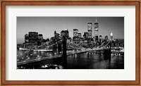 Brooklyn Bridge, NYC BW Pano Fine Art Print
