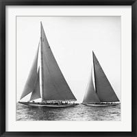 Sailboats in the America's Cup, 1934 (Detail) Fine Art Print