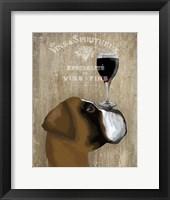 Dog Au Vin Boxer Fine Art Print