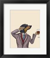 Dachshund Wine Snob Fine Art Print