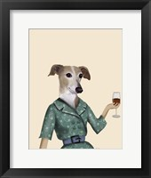 Greyhound Wine Snob Fine Art Print