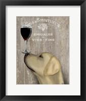 Dog Au Vin Yellow Labrador Fine Art Print