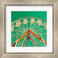 Green Ferris Wheel Fine Art Print