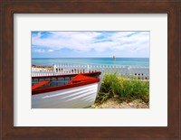 Boat By The Beach Fine Art Print