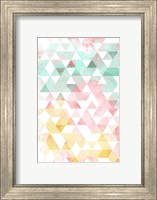 Pastel Triangles Mate Fine Art Print
