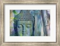 Budha with Bamboo Fine Art Print