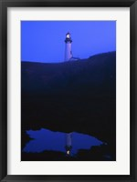 Lighthouse at Night Fine Art Print