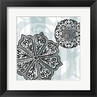 Rosettes on Aqua II Fine Art Print
