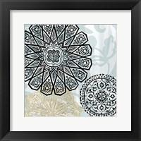 Rosettes on Aqua III Fine Art Print