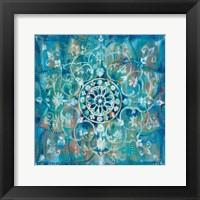 Mandala in Blue I Fine Art Print