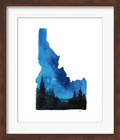 Idaho State Watercolor Fine Art Print