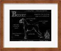 Blueprint Boxer Fine Art Print