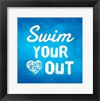 Swim Your Heart Out - Blue Fine Art Print