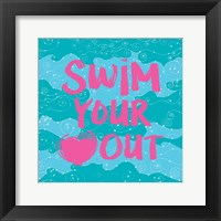 Swim Your Heart Out - Teal Pink Fine Art Print