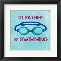 I'd Rather Be Swimming Fine Art Print