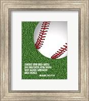 Baseball Quote Fine Art Print