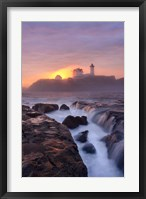 Lighthouse On Fire Fine Art Print