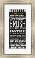 Bathroom Rules (Black) Fine Art Print