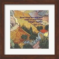 Great Things -Van Gogh Quote 4 Fine Art Print