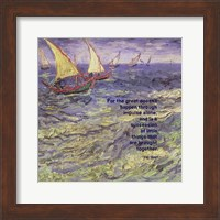 For the Great - Van Gogh Quote 1 Fine Art Print