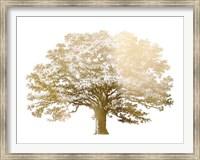 Gold Foil Elephant Tree - Metallic Foil Fine Art Print