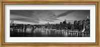 Manhattan Dusk (detail) Fine Art Print
