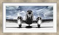 Airplaine Taking Off in a Blue Sky Fine Art Print