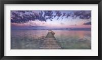 Boat Ramp and Filigree Clouds, Bavaria, Germany Fine Art Print
