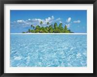 Tropical Lagoon with Palm Island, Maldives Fine Art Print