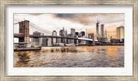 Brooklyn Bridge and Lower Manhattan at sunset, NYC Fine Art Print