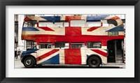 Union Jack Double-Decker Bus, London Fine Art Print