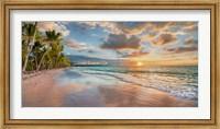 Beach in Maui, Hawaii, at sunset Fine Art Print