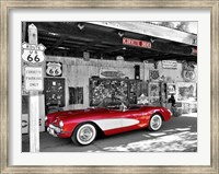 Red Corvette Fine Art Print