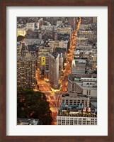 Aerial View of Flatiron Building, NYC Fine Art Print