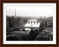 Bridges over the Seine River, Paris 2 Fine Art Print