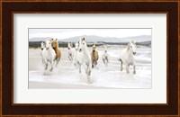 Horses on the beach (detail) Fine Art Print