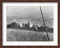 Construction Workers Resting on Steel Beam Above Manhattan, 1932 Fine Art Print