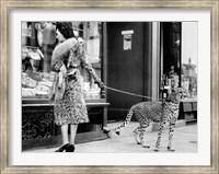 Elegant Woman with Cheetah Fine Art Print