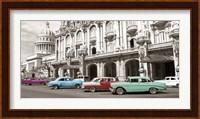 Vintage American Cars in Havana, Cuba Fine Art Print
