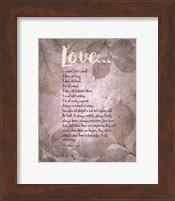 Corinthians 13:4-8 Love is Patient - Grey Leaves Fine Art Print