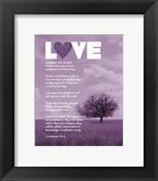 Corinthians 13:4-8 Love is Patient - Lavender Field Fine Art Print