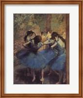 Blue Dancers Fine Art Print