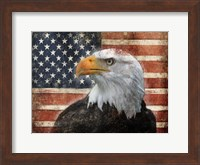 Eagle and Flag Fine Art Print