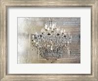 Silver Gold Chandelier Fine Art Print