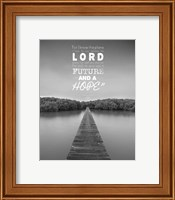Jeremiah 29:11 For I know the Plans I have for You (Lake House Black & White) Fine Art Print