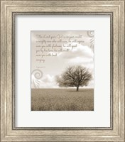 Zephaniah 3:17 The Lord Your God (Grey Landscape) Fine Art Print