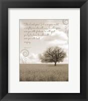 Zephaniah 3:17 The Lord Your God (Grey Landscape) Fine Art Print
