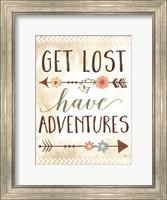 Get Lost, Have Adventures Fine Art Print