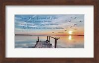 John 6:35 I am the Bread of Life (Pier) Fine Art Print