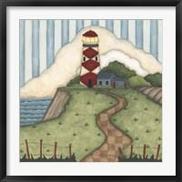 Red Diamond Lighthouse Fine Art Print